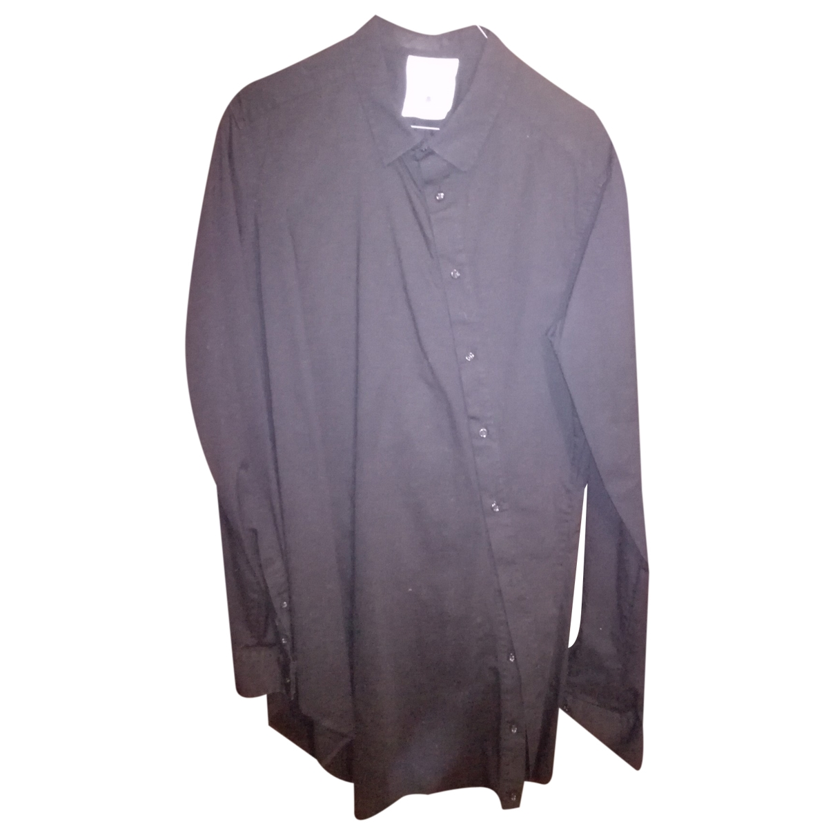 Non Signé / Unsigned \N Black Cotton Shirts for Men S International