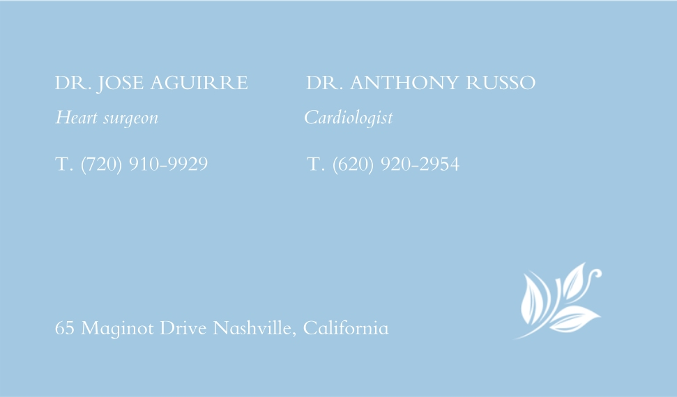 Floral Business Cards, Set of 40, Silk Rounded, Card & Stationery -White Flower Pattern