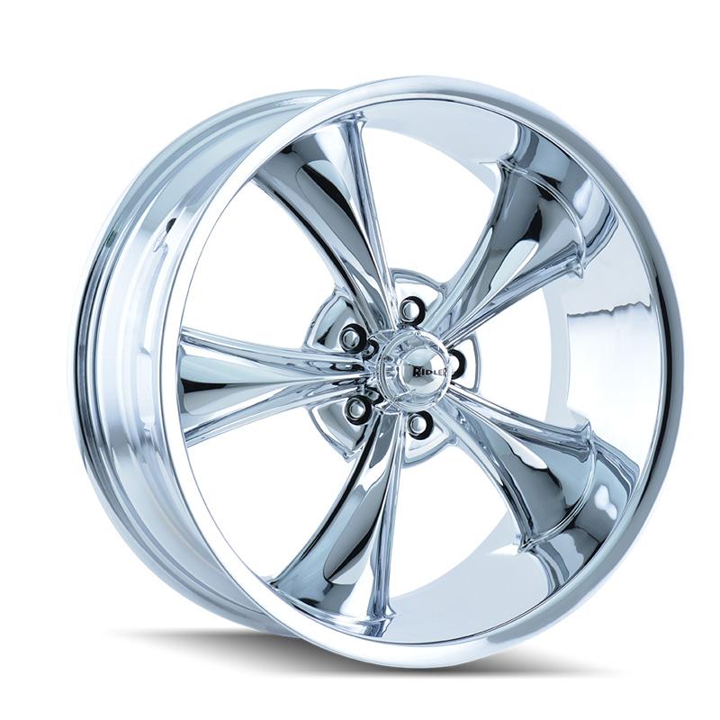 Ridler 695 Chrome 20x8.5 5x114.3 0mm 83.82mm Wheel