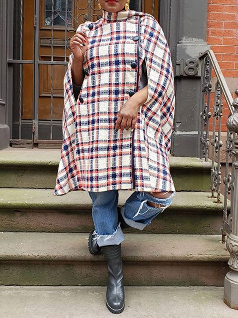 Ericdress African Fashion Pliad Slim Long Winter Overcoat