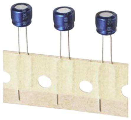 Panasonic 10μF Electrolytic Capacitor 25V dc, Through Hole - ECA1EAK100X (50)