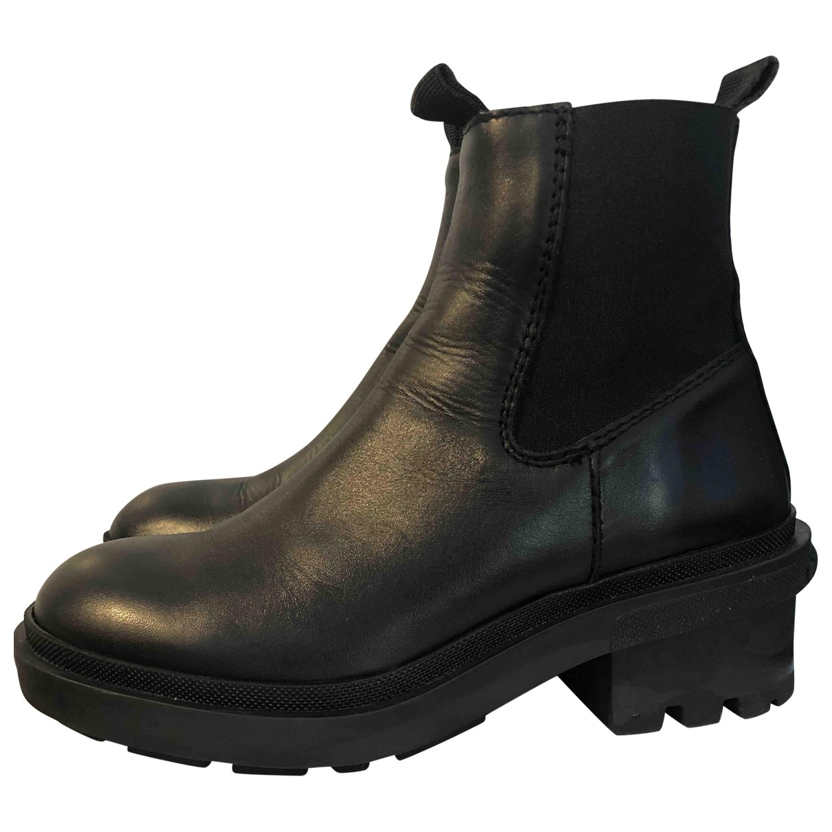 Bimba Y Lola \N Black Leather Ankle boots for Women 39 EU
