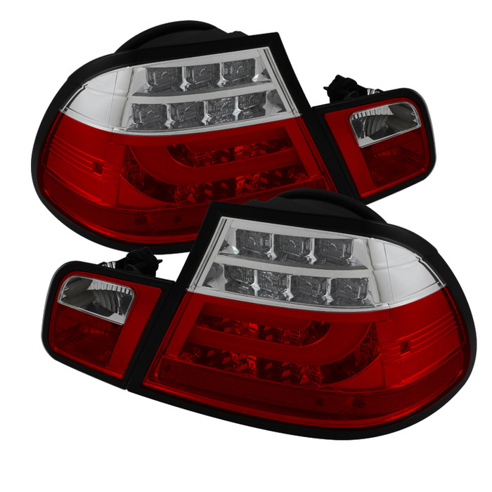 Spyder Auto ALT-YD-BE4604-LBLED-RC Light Bar Style Red Clear LED Taillights BMW E46 325Ci 2Dr 04-06