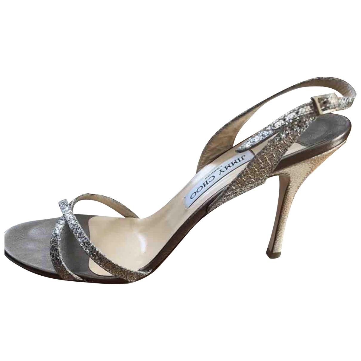 Jimmy Choo \N Silver Leather Sandals for Women 42 IT