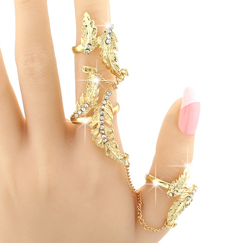 Charming Rhinestone Inlaid Butterfly Design Alloy Ring Sets