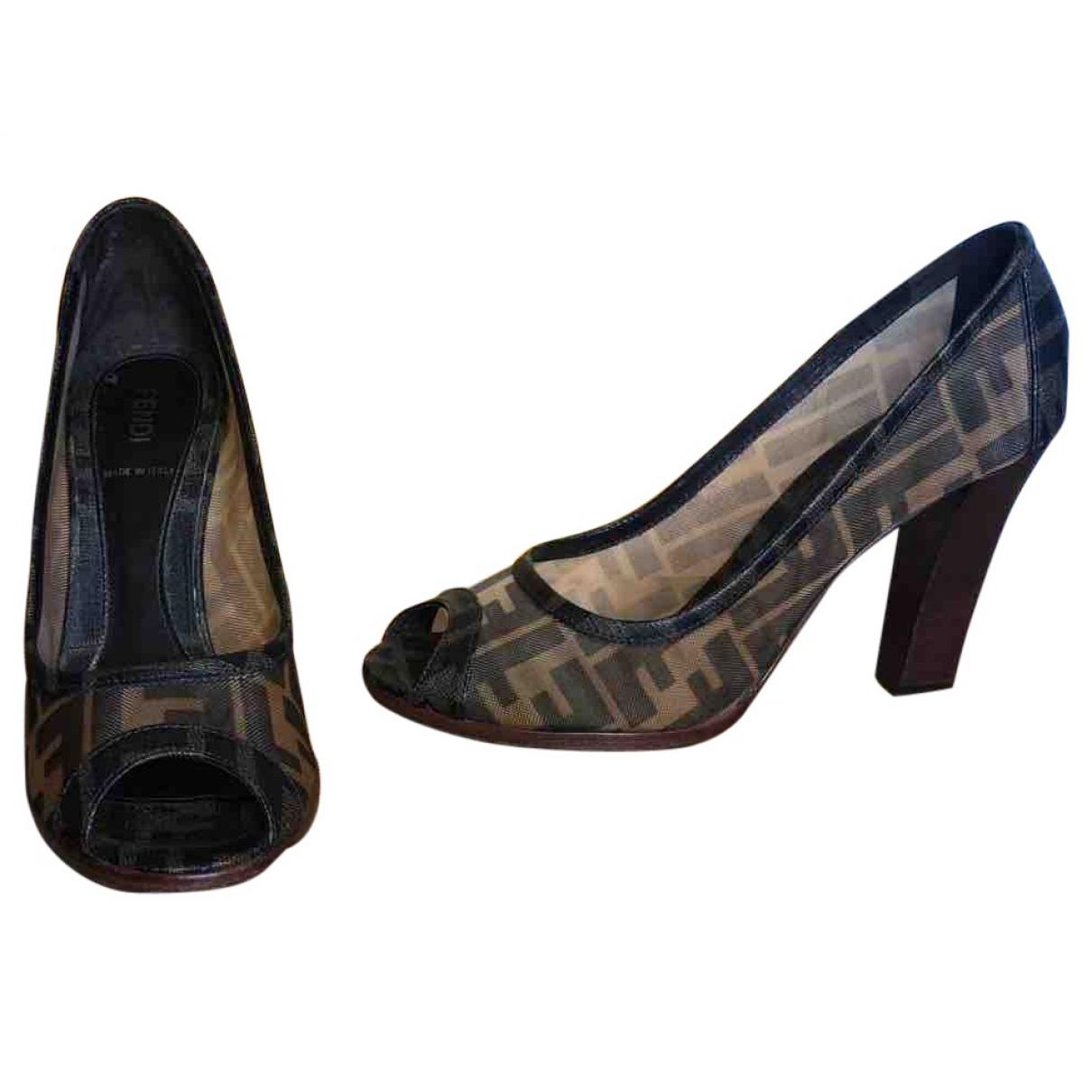 Fendi \N Brown Cloth Heels for Women 37 EU