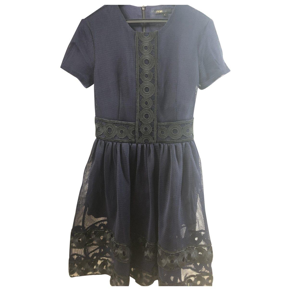Maje \N Blue Lace dress for Women 36 FR