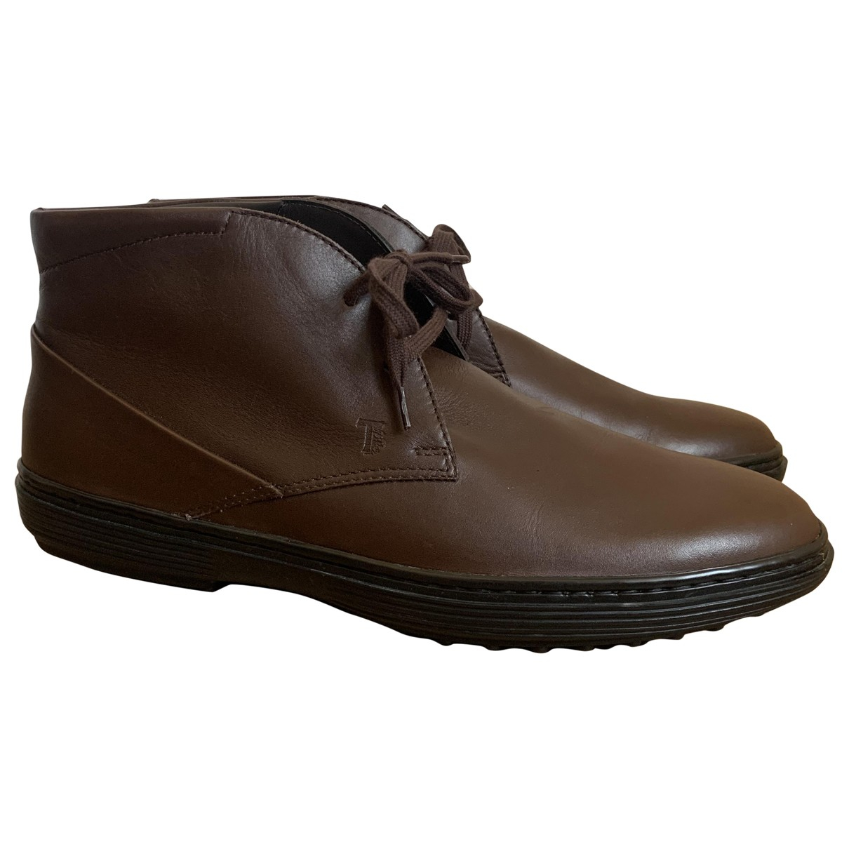 Tod's \N Brown Leather Boots for Men 6 UK