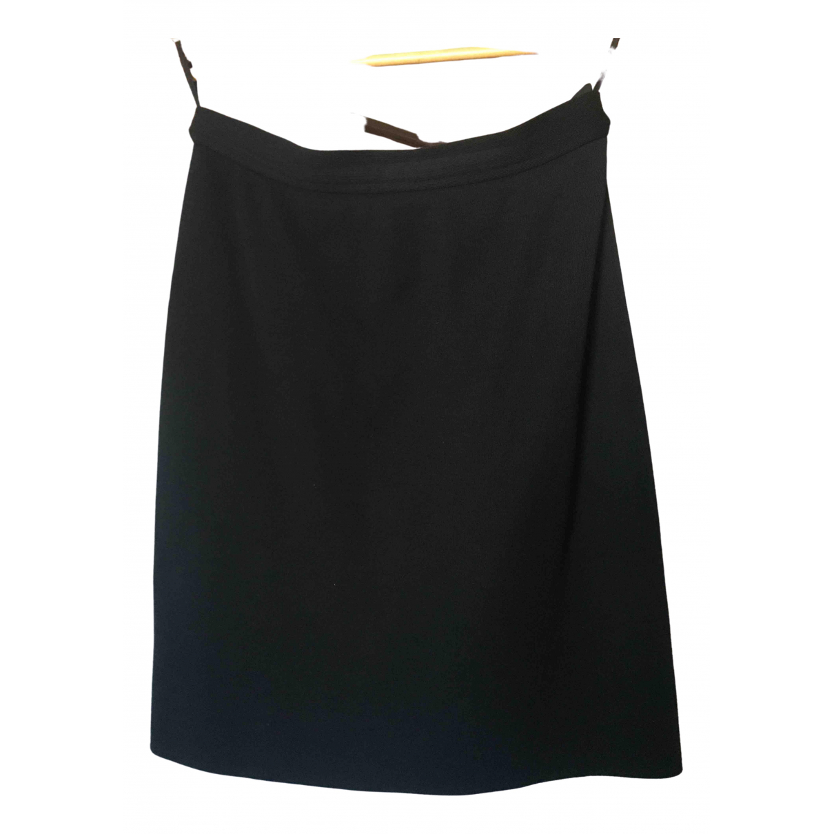 Yves Saint Laurent \N Black Wool skirt for Women 44 FR