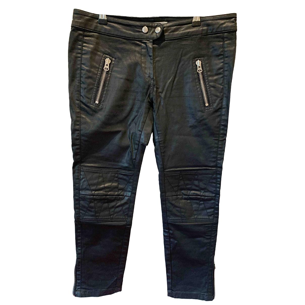 Isabel Marant Pour H&m \N Black Cotton Trousers for Women 38 FR