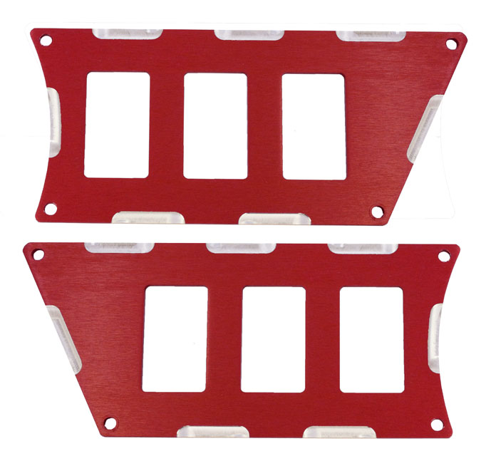 ModQuad RZR-SP6-1K-RD RZR 1000 6 Switch Panel Red