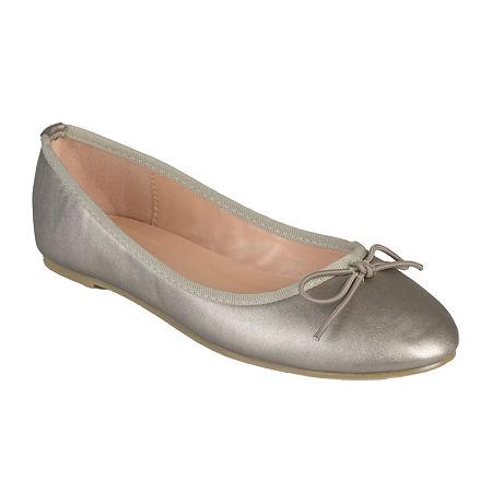 Journee Collection Womens Vika Ballet Flats, 7 Medium, Gray