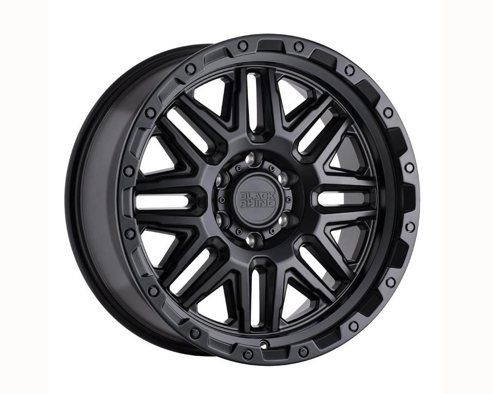 Black Rhino Alamo Wheel 20x9 6x139.70 12 Matte Black w/Black Bolts