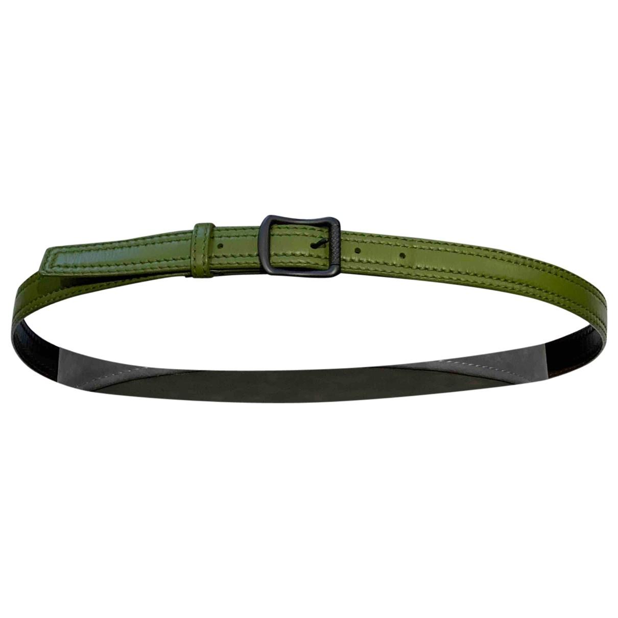 Bottega Veneta \N Green Leather belt for Men 95 cm