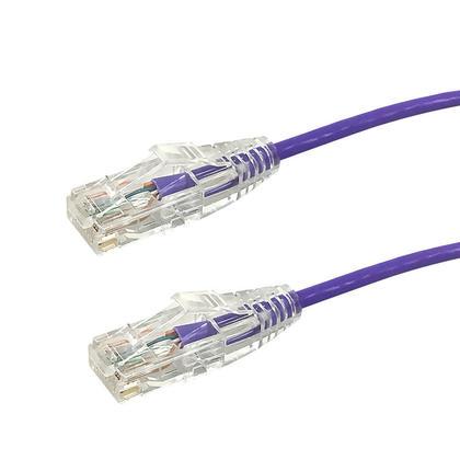 Câbles Ethernet Cat6A UTP 28AWG 10GB ultra - fins - Violet - 1pi