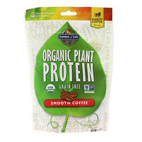 Organic Plant Protein Smooth Coffee 9 oz by Garden of Life