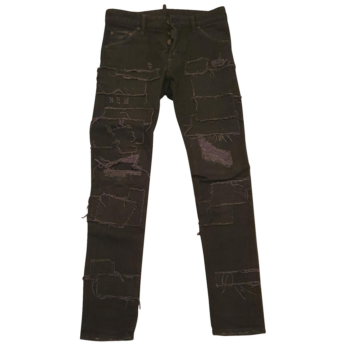 Dsquared2 \N Black Cotton Jeans for Men 38 FR
