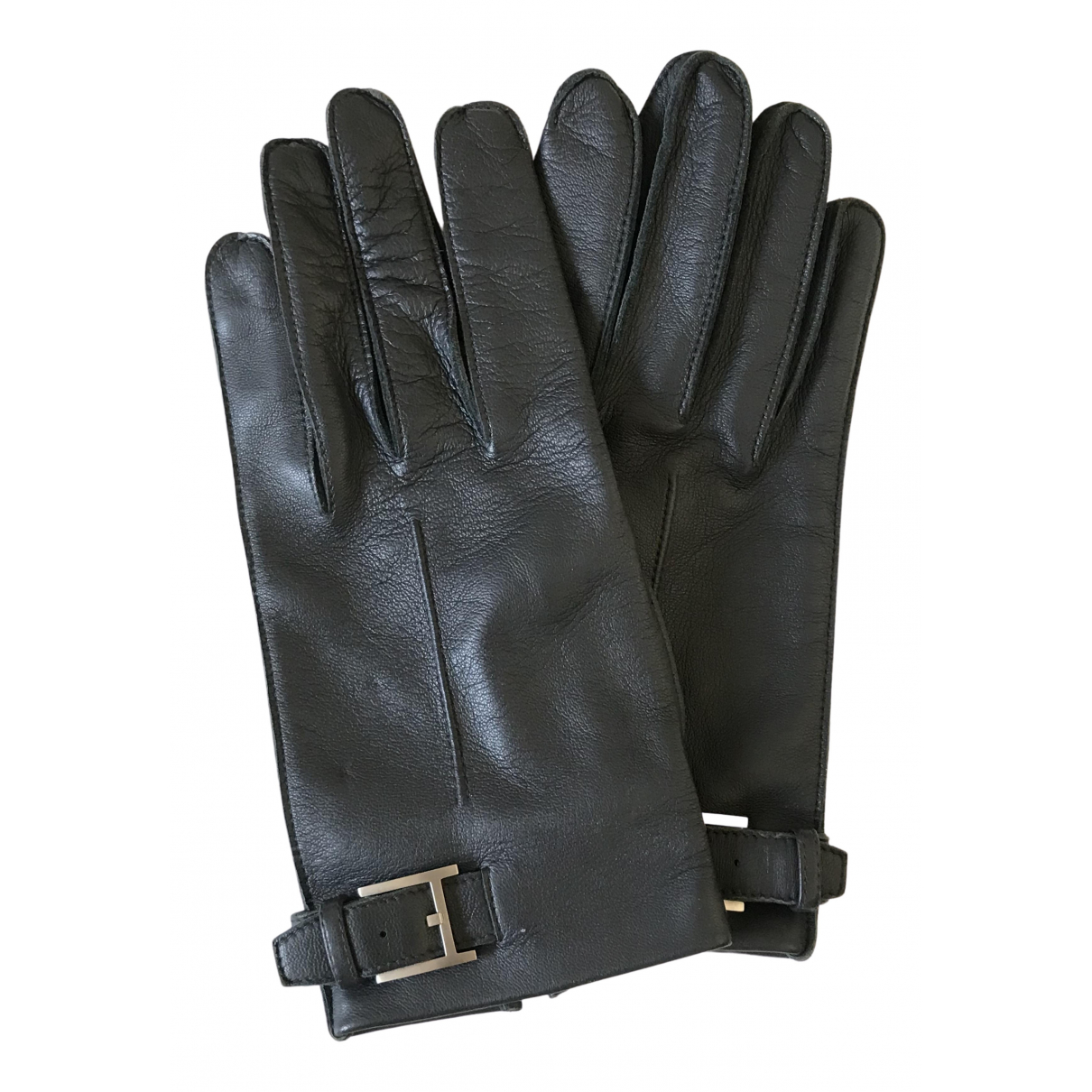 Hermès \N Grey Leather Gloves for Women 8.5 Inches