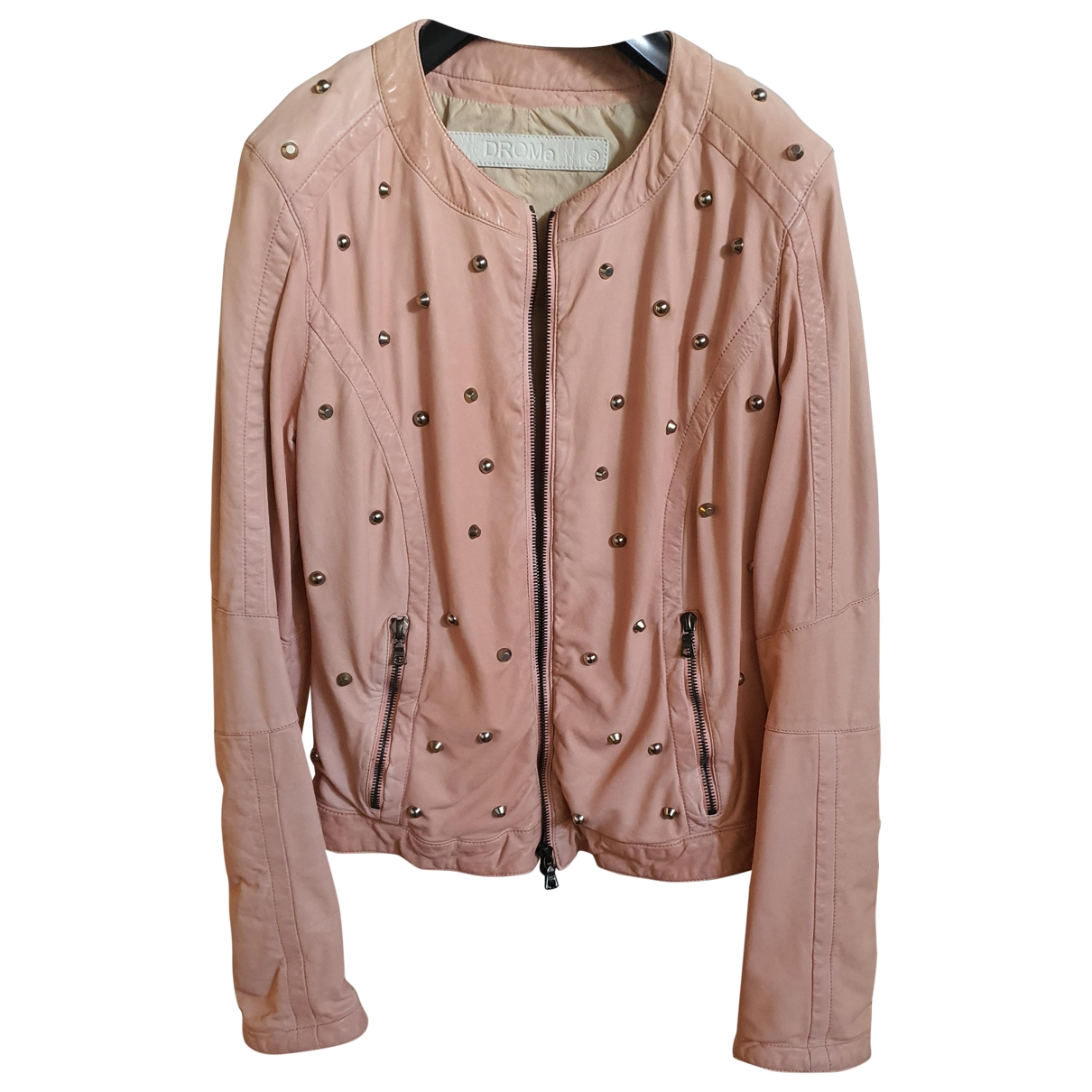 Drome \N Pink Leather Leather jacket for Women 40 IT