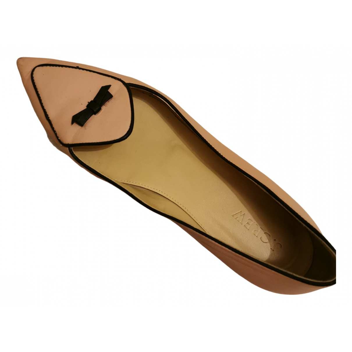 J.crew \N Pink Leather Flats for Women 7.5 US