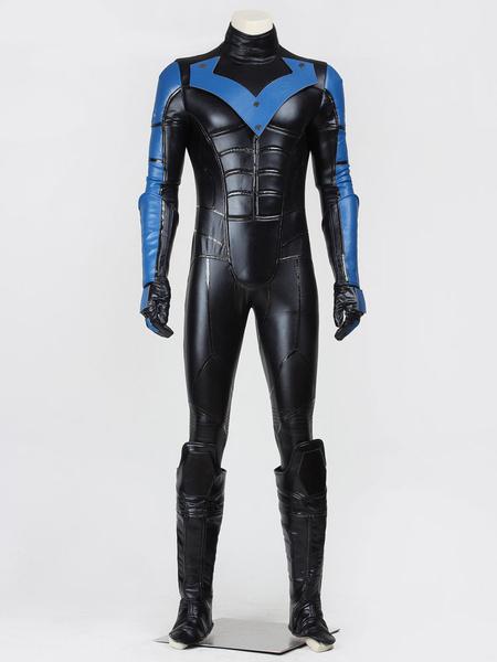 Milanoo Batman Arkham City Nightwing Halloween Cosplay Costume Halloween