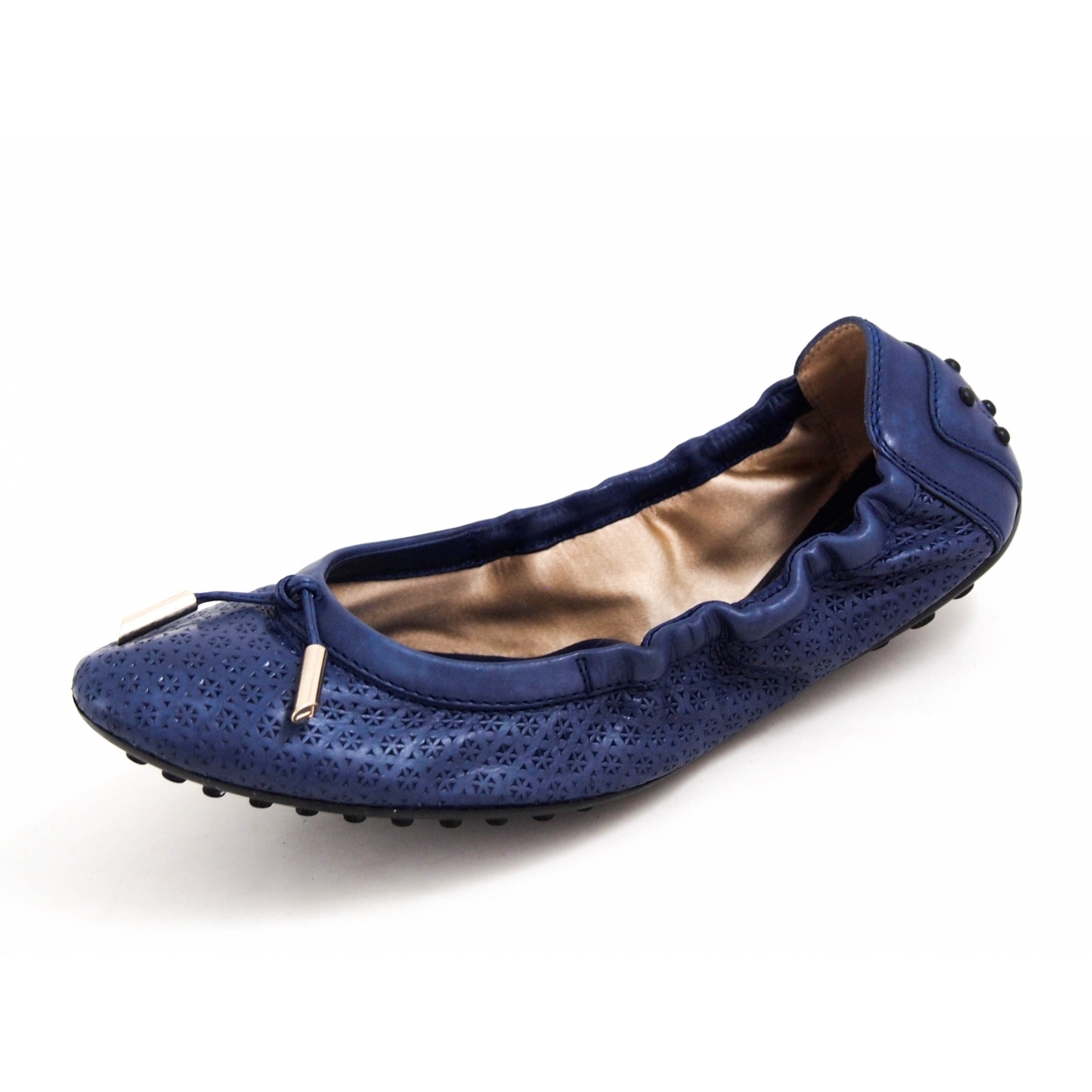 Tod's \N Blue Leather Ballet flats for Women 36.5 EU