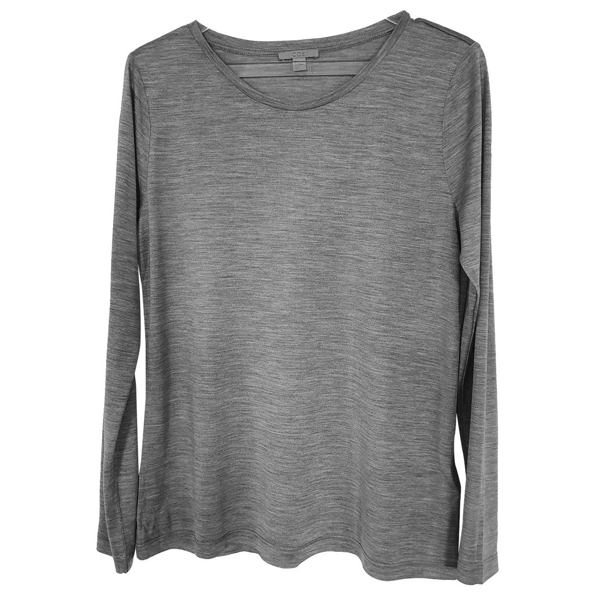 Cos \N Grey Silk  top for Women M International
