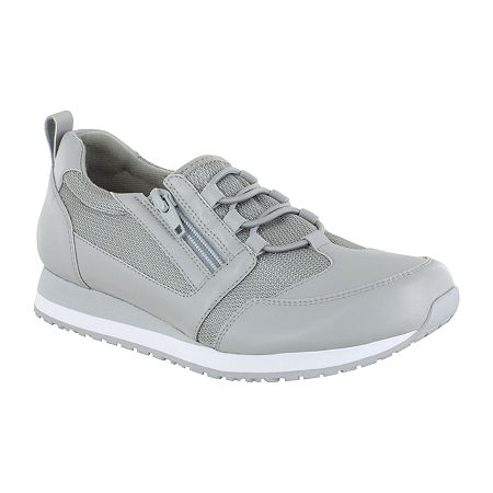 Easy Works By Easy Street Womens Mckinley Round Toe Oxford Shoes, 10 Medium, Gray