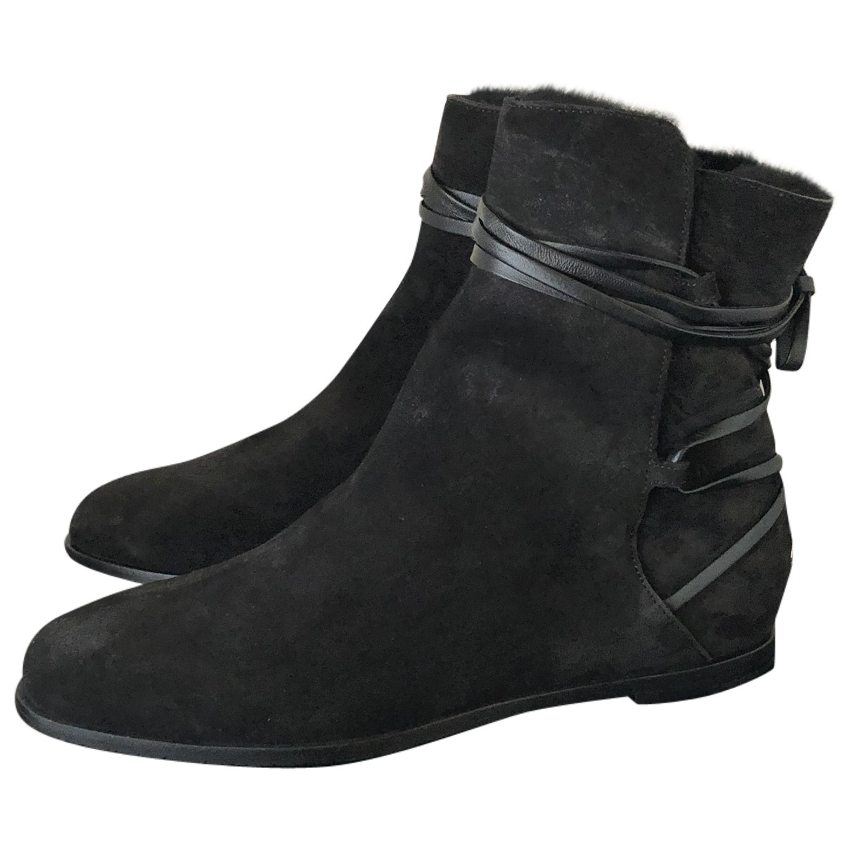 Jimmy Choo \N Black Suede Ankle boots for Women 36 EU