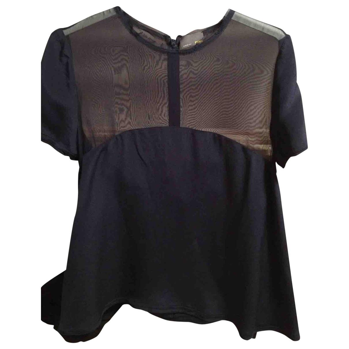 Fendi \N Navy Silk  top for Women 40 IT