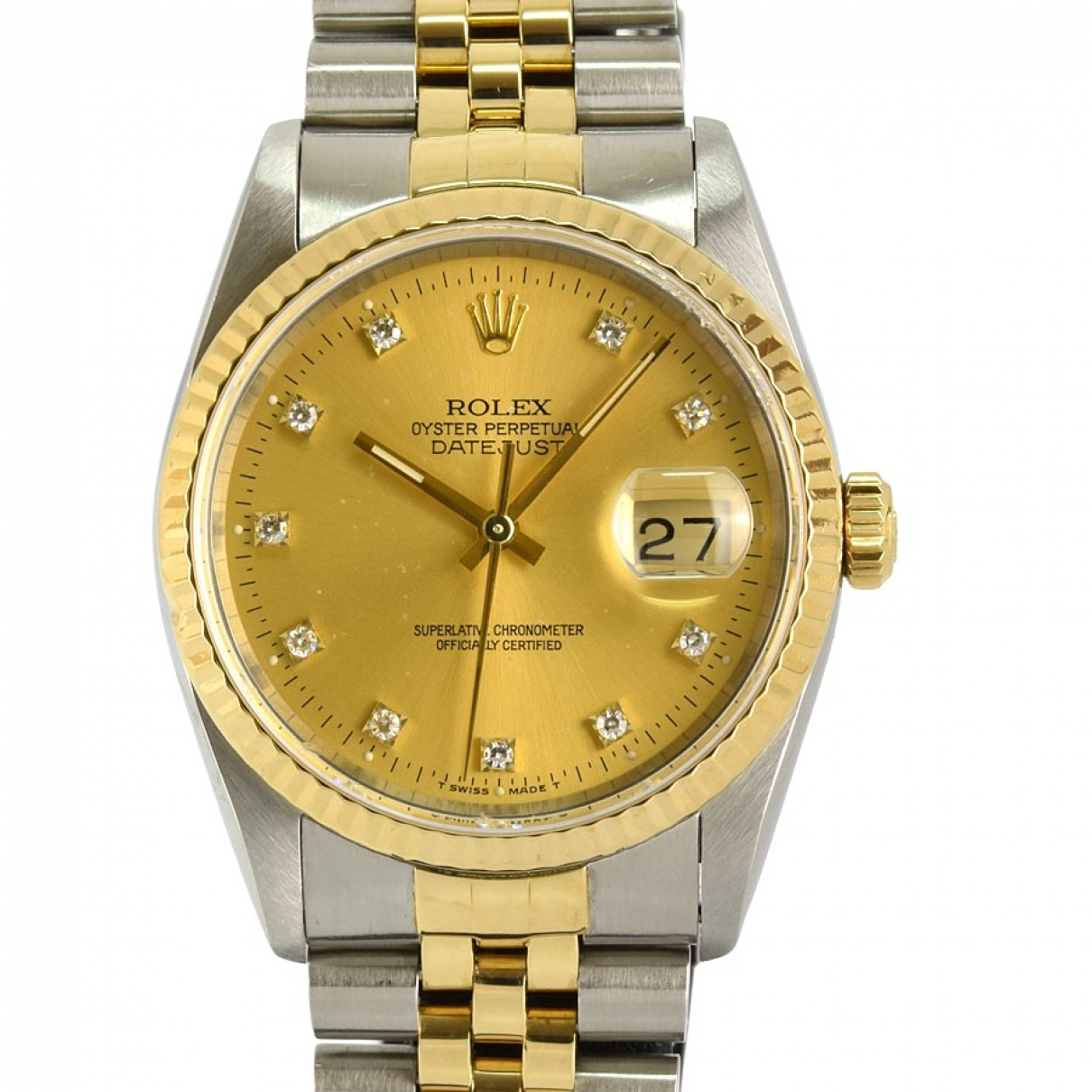 Rolex Datejust 36mm Gold gold and steel watch for Men \N