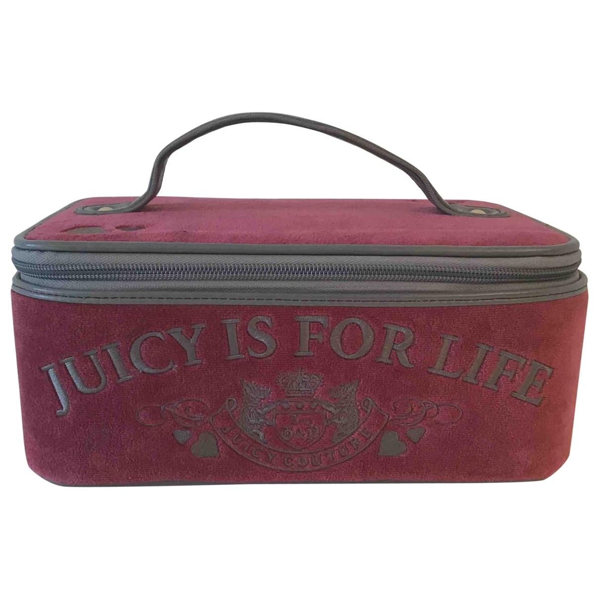 Juicy Couture \N Burgundy Velvet Travel bag for Women \N