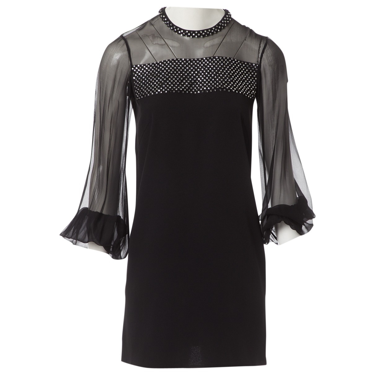 Emilio Pucci \N Black Silk dress for Women 40 IT