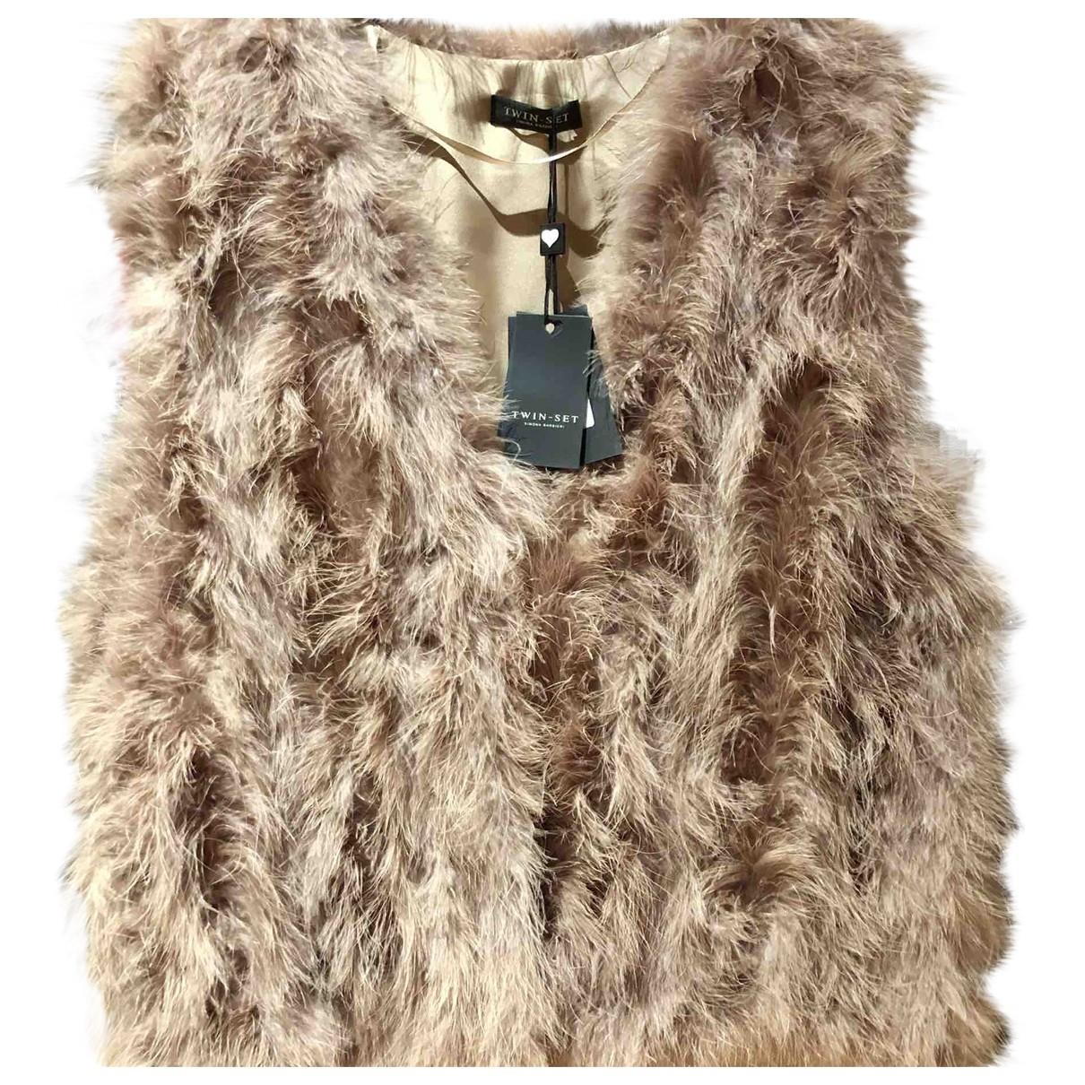 Twin Set \N Camel Fur jacket for Women L International