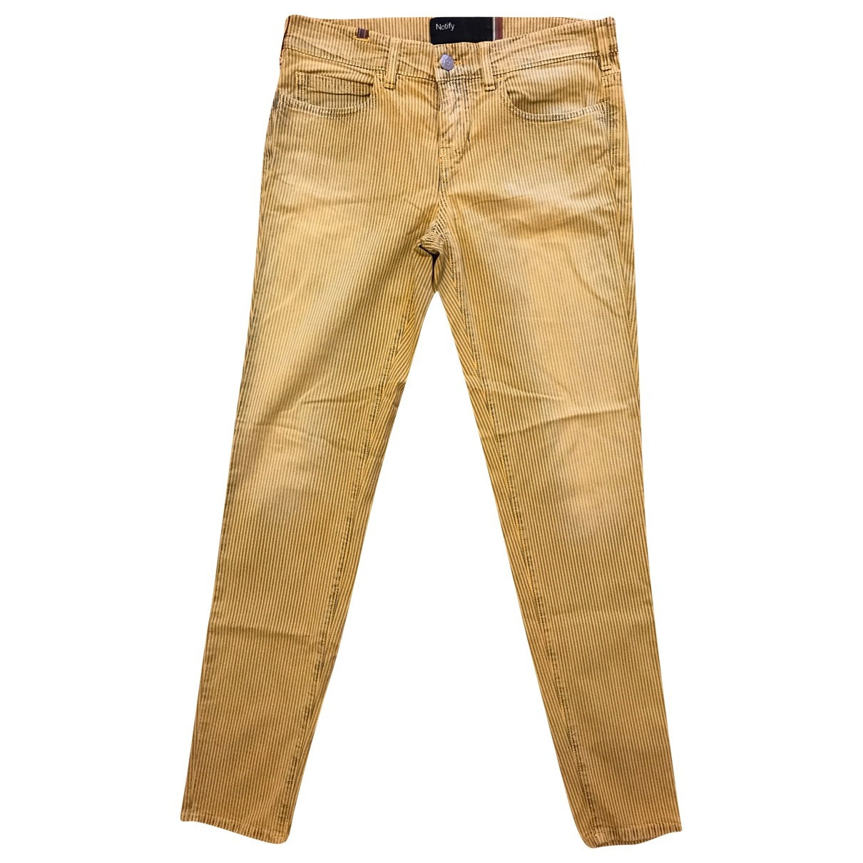 Notify \N Yellow Cotton Trousers for Women 40 IT