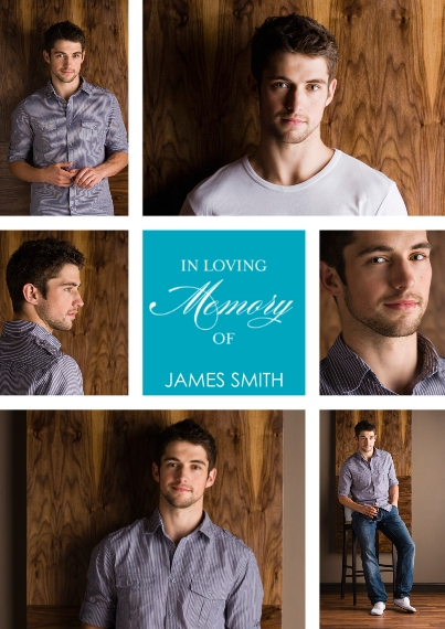 Sympathy 5x7 Cards, Standard Cardstock 85lb, Card & Stationery -In Loving Memory by Posh Paper