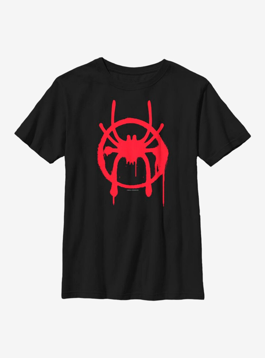 Marvel Spider-Man: Into The Spiderverse Miles Symbol Youth T-Shirt