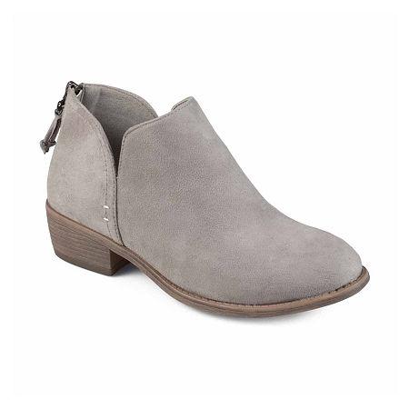 Journee Collection Womens Livvy Booties Block Heel, 10 Medium, Gray