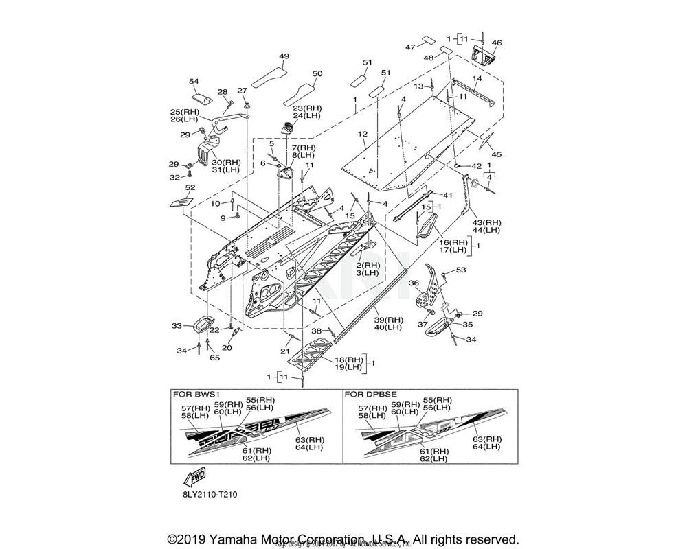 Yamaha OEM 8MT-F199C-00-00 GRAPHIC 3   UR FOR BWS1