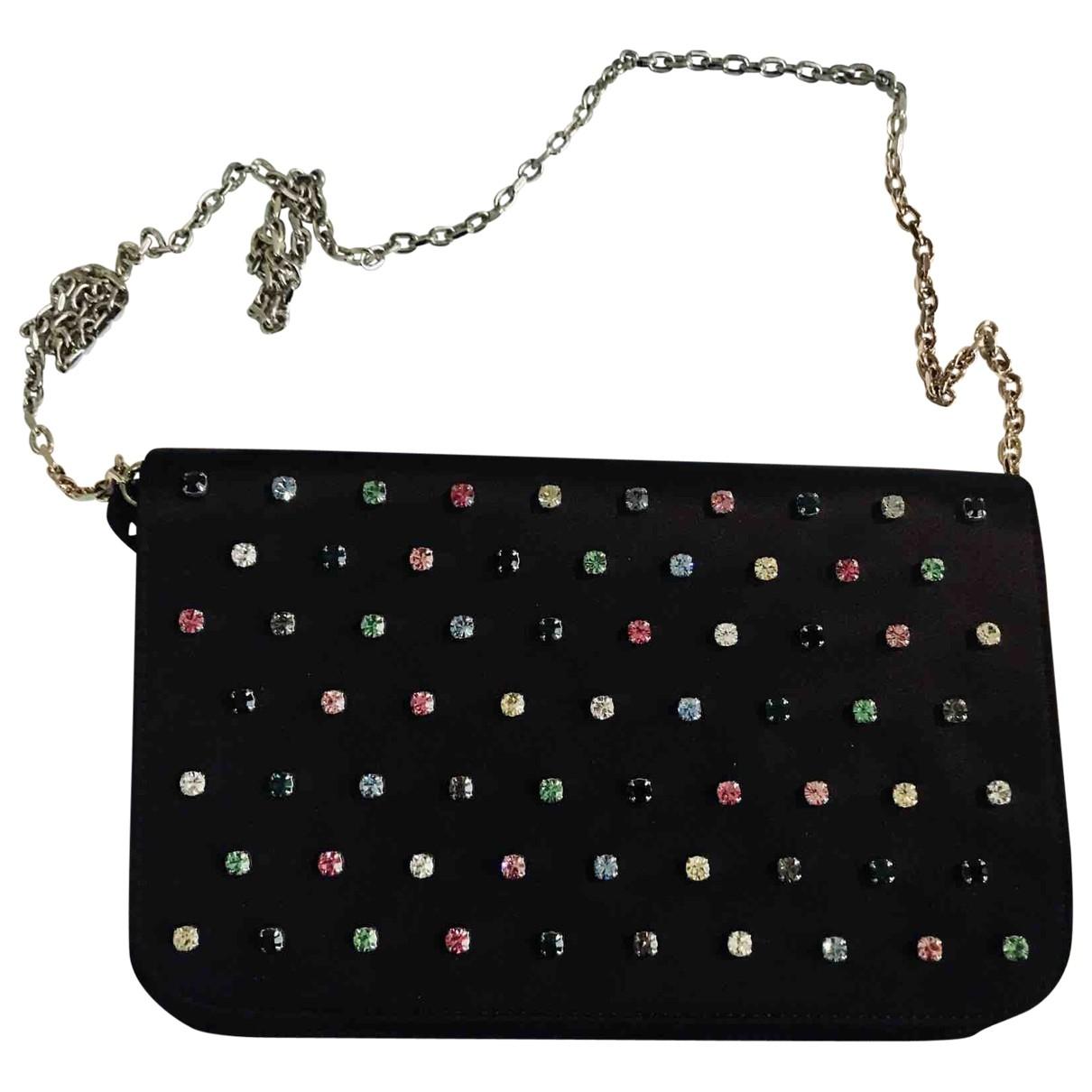 Red Valentino Garavani \N Black Silk handbag for Women \N