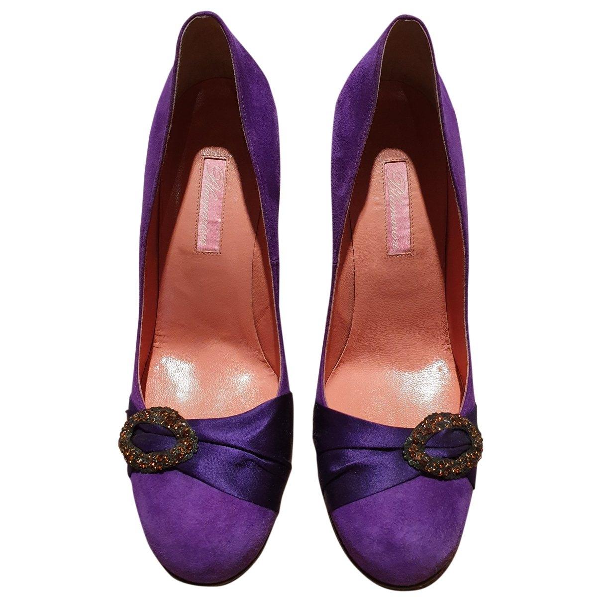 Blumarine \N Purple Suede Heels for Women 39 EU