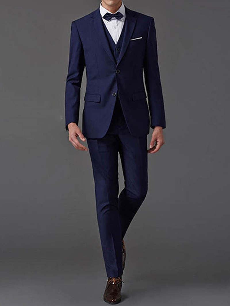 Ericdress Plain Three-Piece of Elegant Men's Suit
