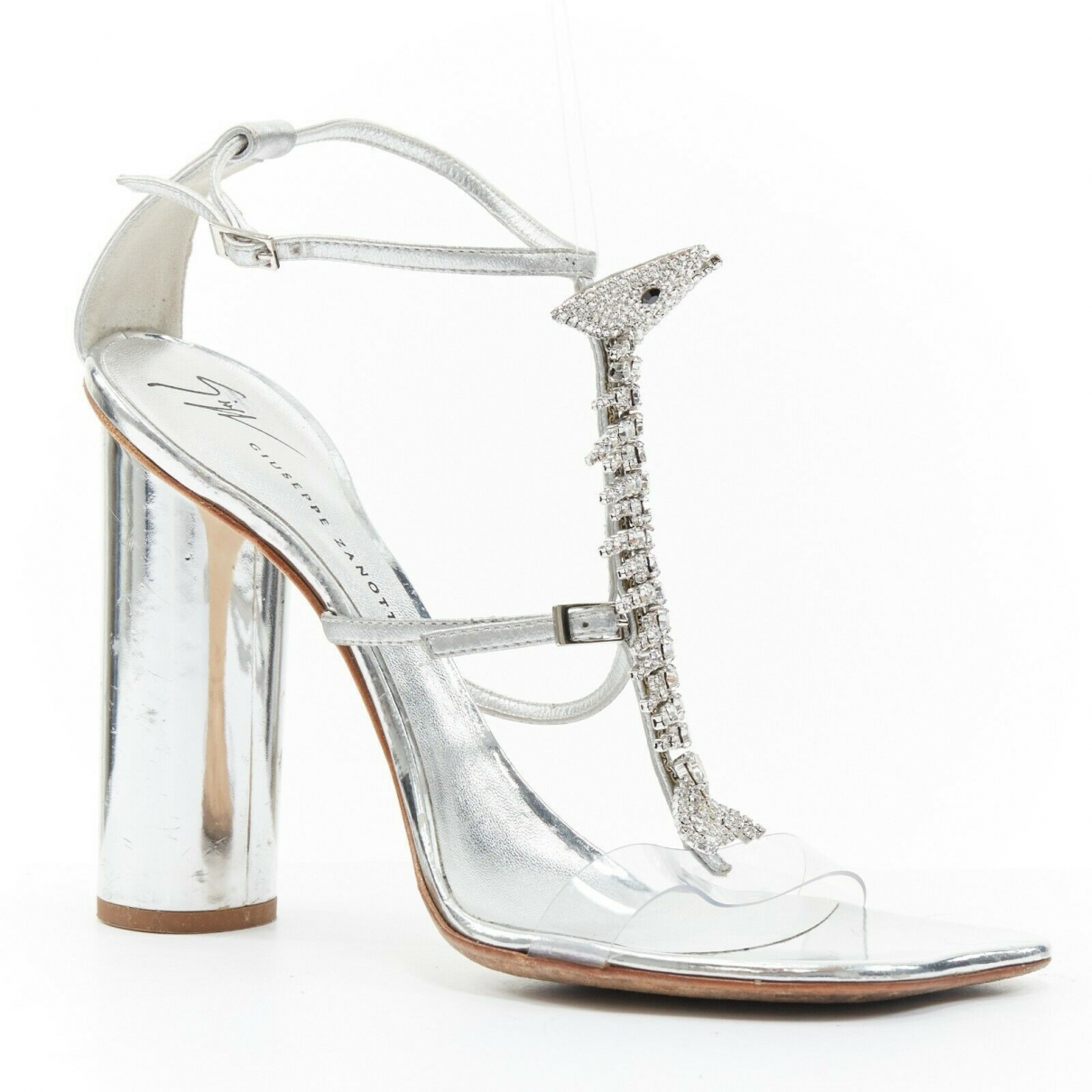 Giuseppe Zanotti \N Silver Leather Sandals for Women 39 EU