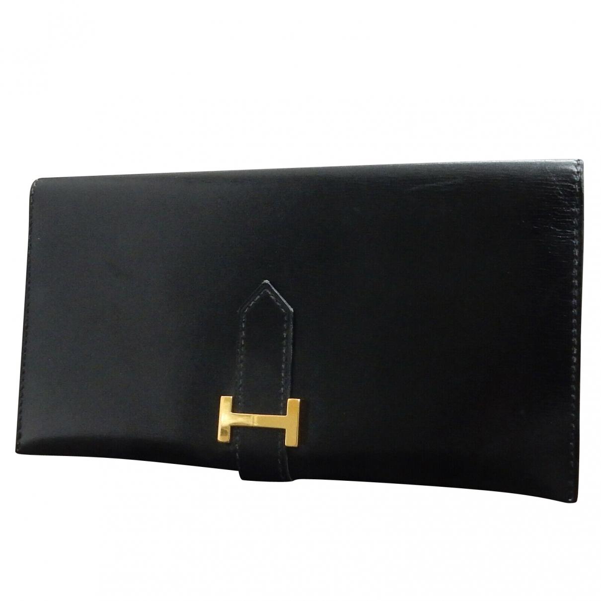 Hermès Béarn Black Leather wallet for Women \N