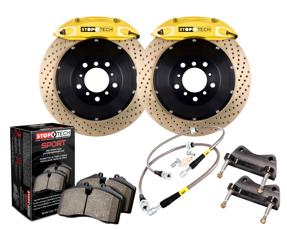 StopTech 83.328.4700.84 Big Brake Kit 2 Piece Rotor; Front Ford Mustang Front