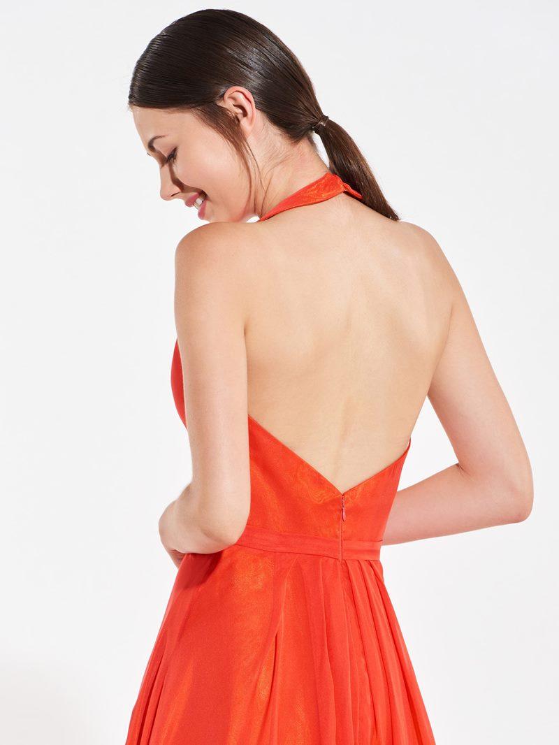 Ericdress Halter Backless Long Bridesmaid Dress