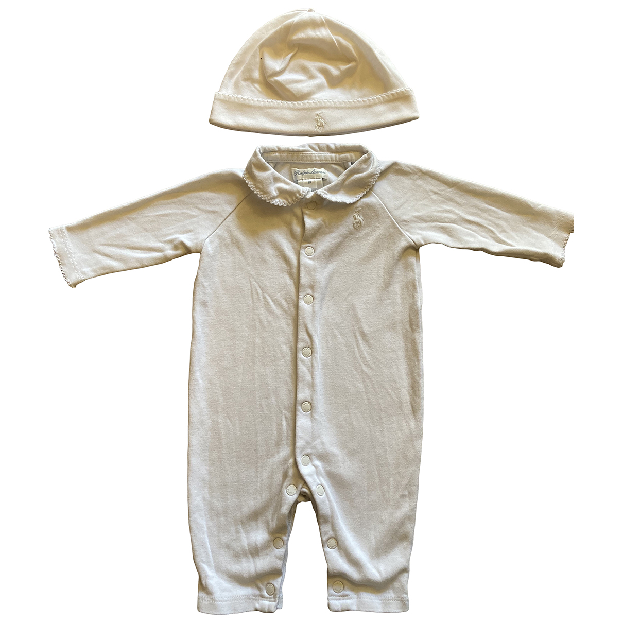 Ralph Lauren \N White Cotton Outfits for Kids 3 months - until 24 inches UK