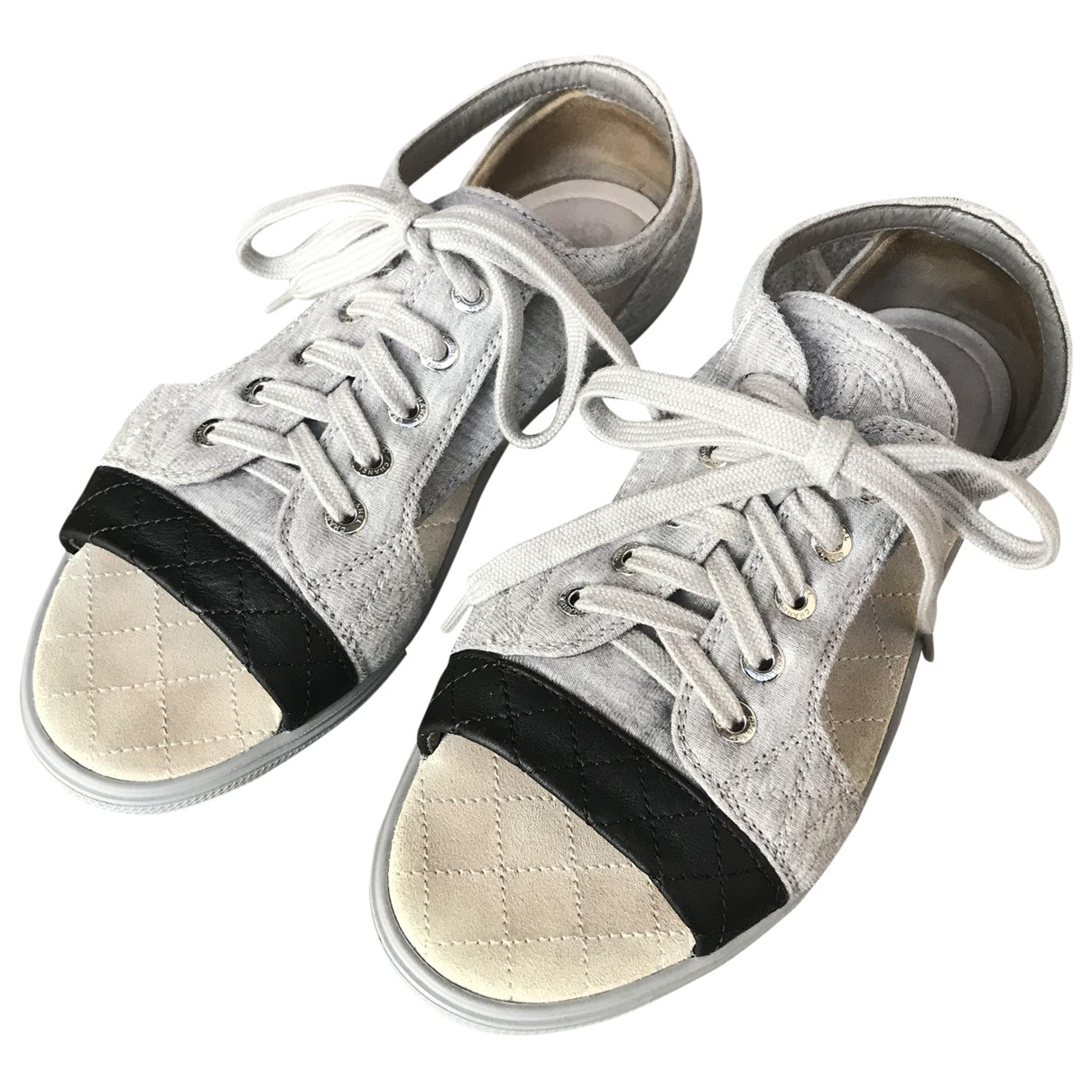 Chanel \N Grey Cloth Trainers for Women 36 EU
