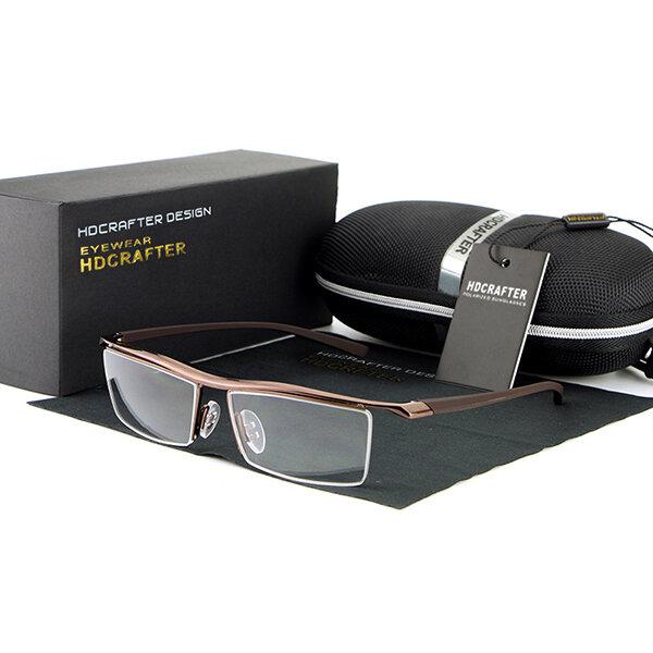 Mens Women Classic Rimless Glasses Casual UV400 Sunscreen Clear Lens Eyeglasses