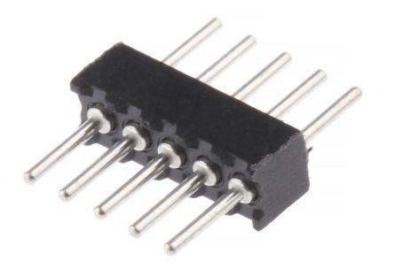 Preci-Dip , 5 Way, 1 Row, Straight Backplane Connector (5)